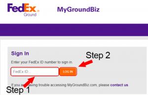 FedEx Ground Biz Login